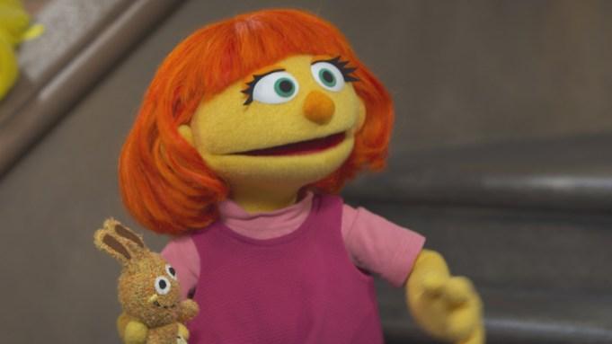 Sesame Street muppet autism Julia