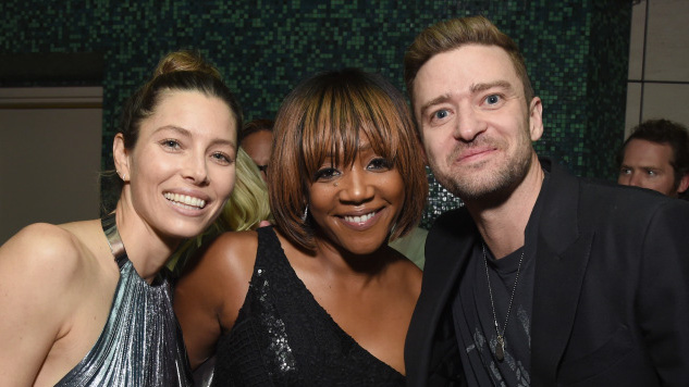 BEVERLY HILLS, CA - SEPTEMBER 14:  (L-R) Jessica Biel, Tiffany Haddish and Justin Timberlake attend the Endeavor EMMY Party at Waldorf Astoria Beverly Hills on September 14, 2018 in Beverly Hills, California.  (Photo by Michael Kovac/Getty Images for Endeavor)