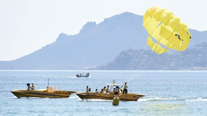 T.J. Miller parasails Cannes