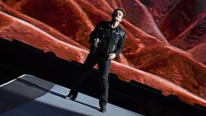 U2's Bono performs at the Rose Bowl on May 20.