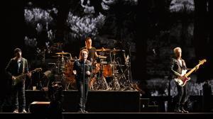 U2 perform at the Rose Bowl on May 20, 2017.