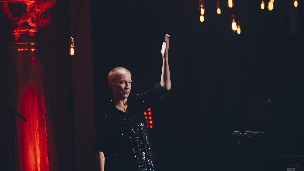 """Annie Lennox performs Sting's """"Fragile"""" at the 2017 Polar Music Prize ceremony."""