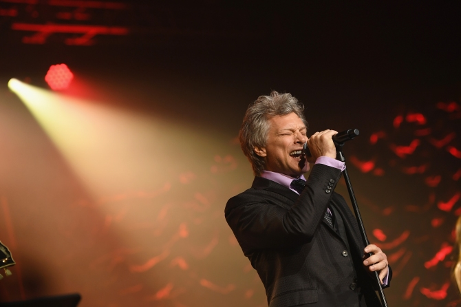 NEW YORK, NY - JUNE 15:  Jon Bon Jovi performs onstage at the Songwriters Hall Of Fame 48th Annual Induction and Awards at New York Marriott Marquis Hotel on June 15, 2017 in New York City.  (Photo by Larry Busacca/Getty Images for Songwriters Hall Of Fame) *** Local Caption *** Jon Bon Jovi