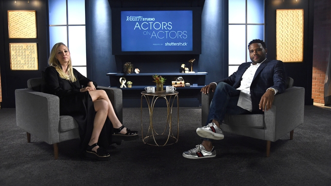 Kaley Cuoco and Anthony AndersonVariety Studio: