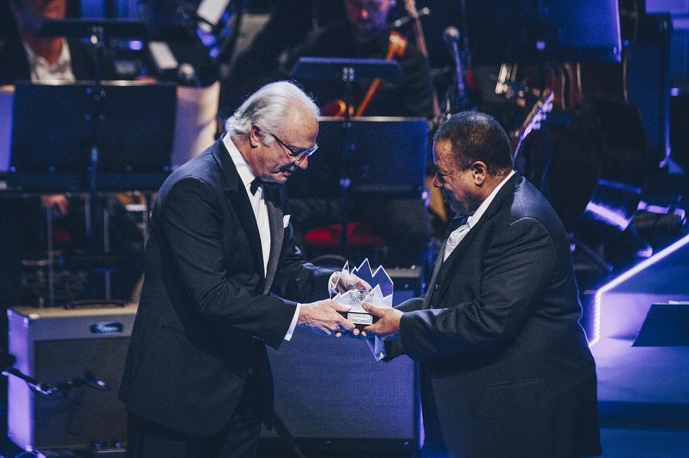 Wayne Shorter accepts the Polar Music Prize.