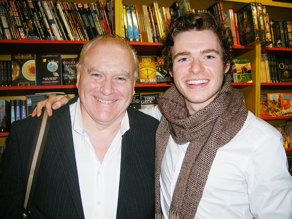 Richard Madden and Ron Donachie from Game of Thrones in Belfast in 2009.