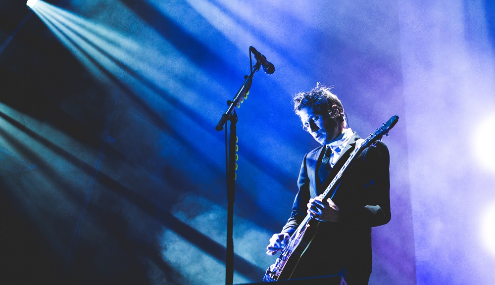 Interpol performs at London's Alexandra Palace on Sept. 1.