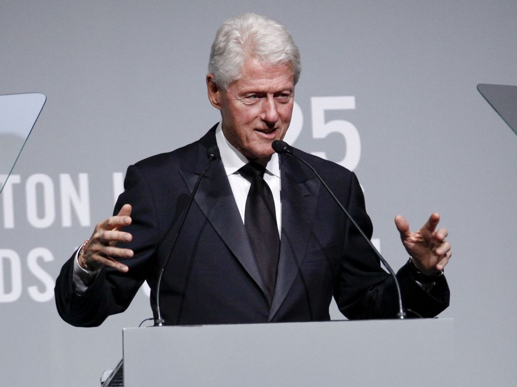 Bill Clinton attends the Elton John AIDS Foundation's 25th Anniversary Gala at The Cathedral of St. John the Divine, in New YorkElton John AIDS Foundation's 25th Anniversary Gala, New York, USA - 07 Nov 2017