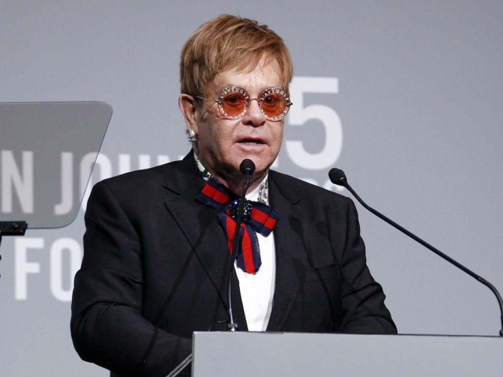 Elton John attends the Elton John AIDS Foundation's 25th Anniversary Gala at The Cathedral of St. John the Divine, in New YorkElton John AIDS Foundation's 25th Anniversary Gala, New York, USA - 07 Nov 2017