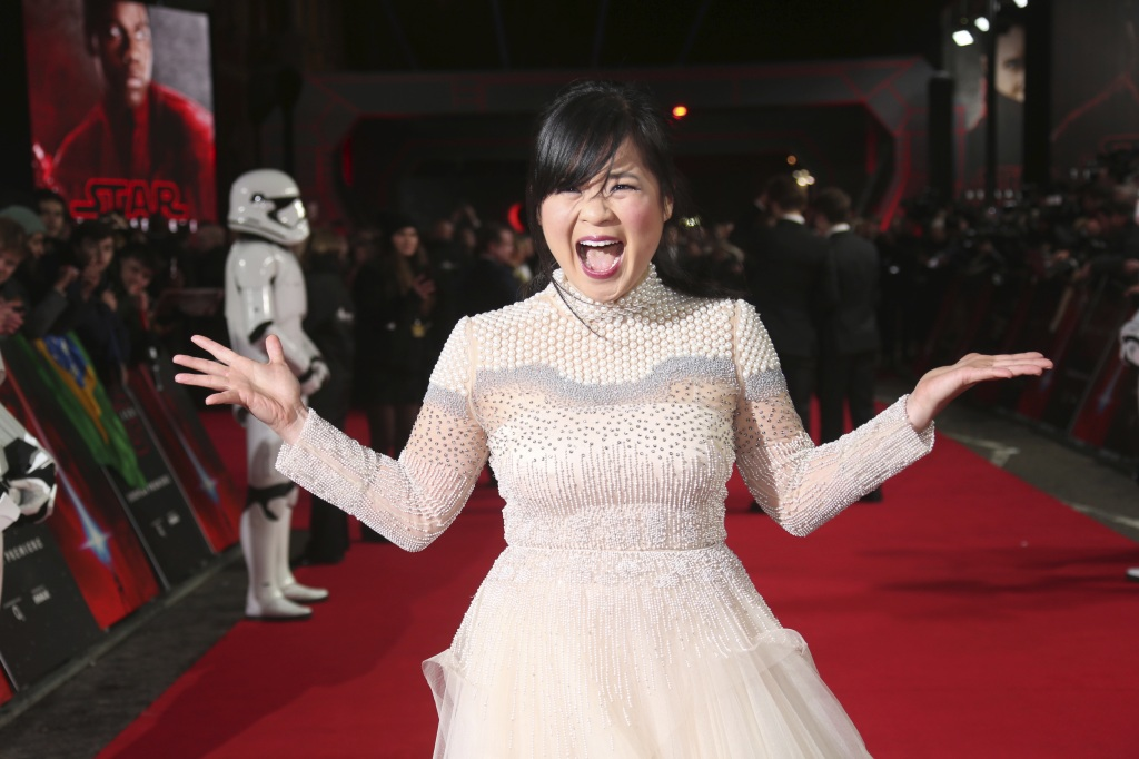 Actress Kelly Marie Tran poses for photographers upon arrival at the premiere of the film 'Star Wars: The Last Jedi' in London, Tuesday, Dec. 12th, 2017Britain Star Wars The Last Jedi Premiere, London, United Kingdom - 12 Dec 2017