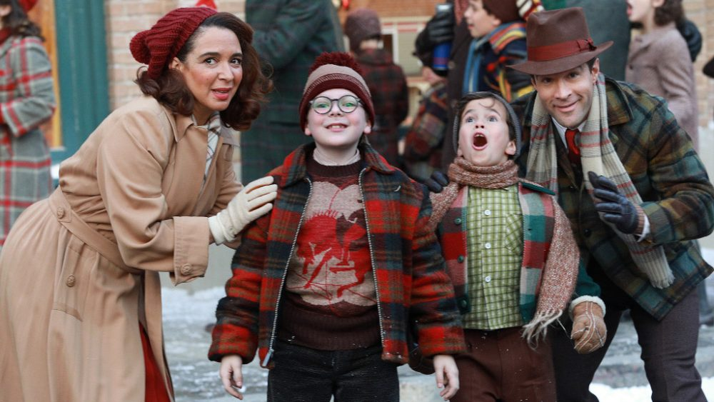 A CHRISTMAS STORY LIVE!: L-R: Cast members Maya Rudolph, Andy Walkin, Tyler Wladis and Chris Diamantopoulos during FOX's live musical event, A CHRISTMAS STORY LIVE!, airing Sunday, Dec. 17 (7:00-10:00 PM ET live/PT tape-delayed) on FOX. CR: Jordin Althaus/ FOX