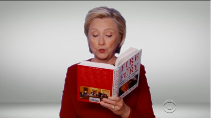 Hillary Grammys Fire and Fury