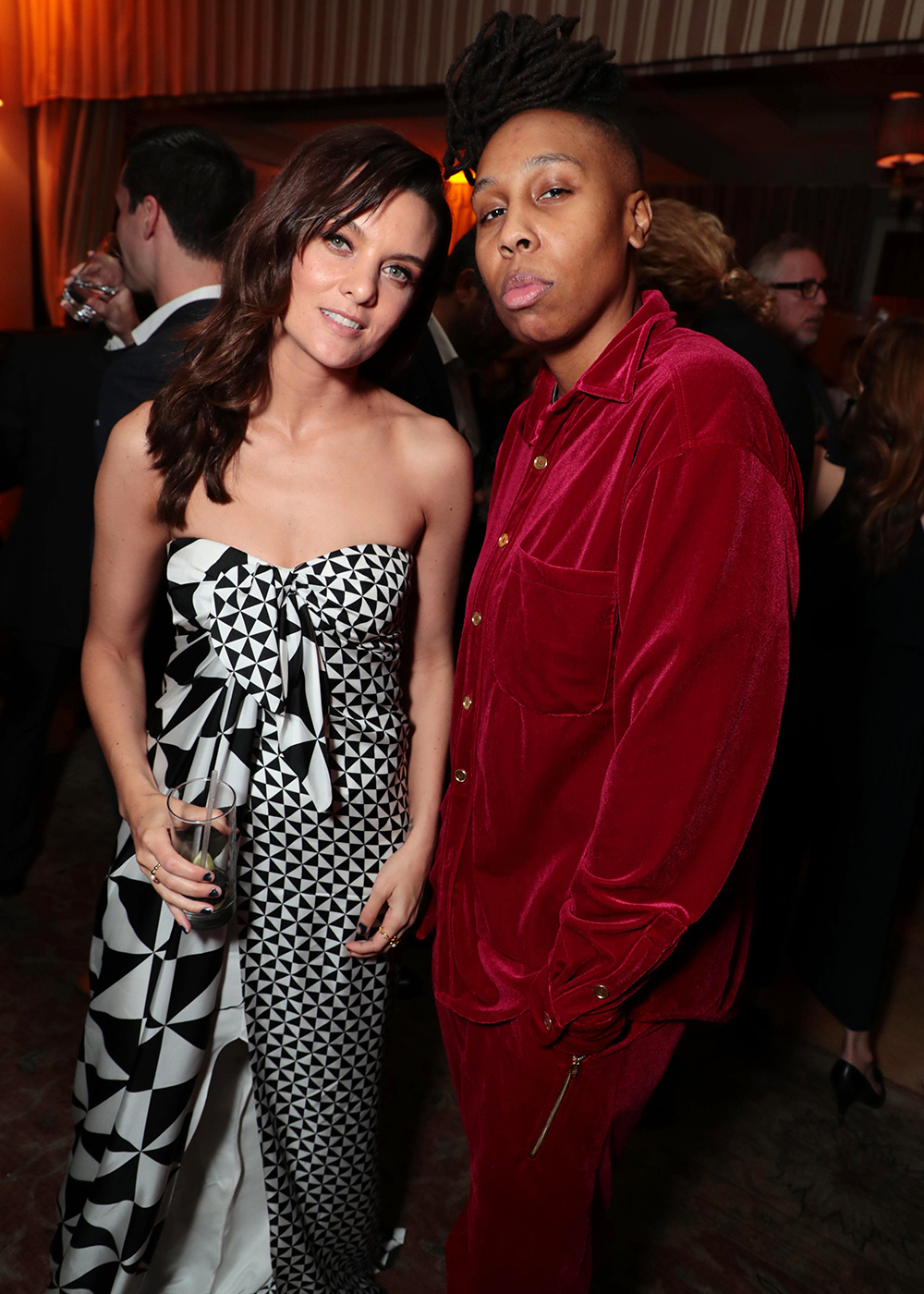 """Frankie Shaw and Lena Waithe, creator/executive producer/writer of """"The Chi""""Showtime Golden Globes Party at the Sunset Tower, Los Angeles, CA, USA - 06 Jan 2018"""