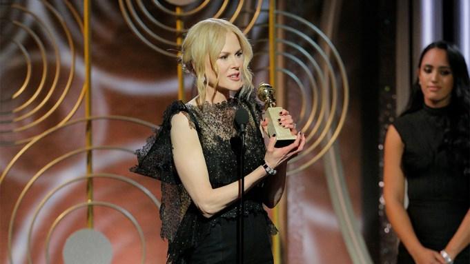 Nicole Kidman Golden GLobe Win