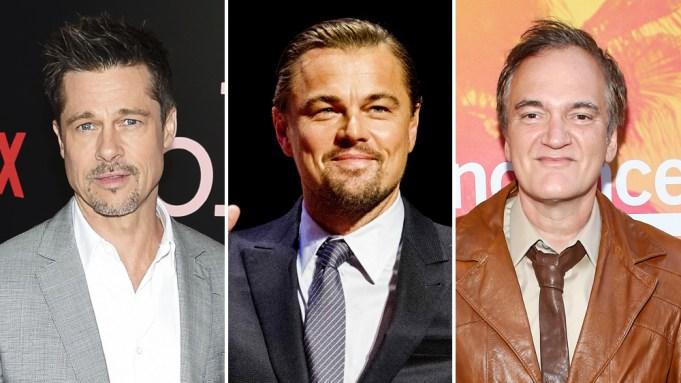 Brad Pitt Leonardo DiCaprio Quentin Tarantino