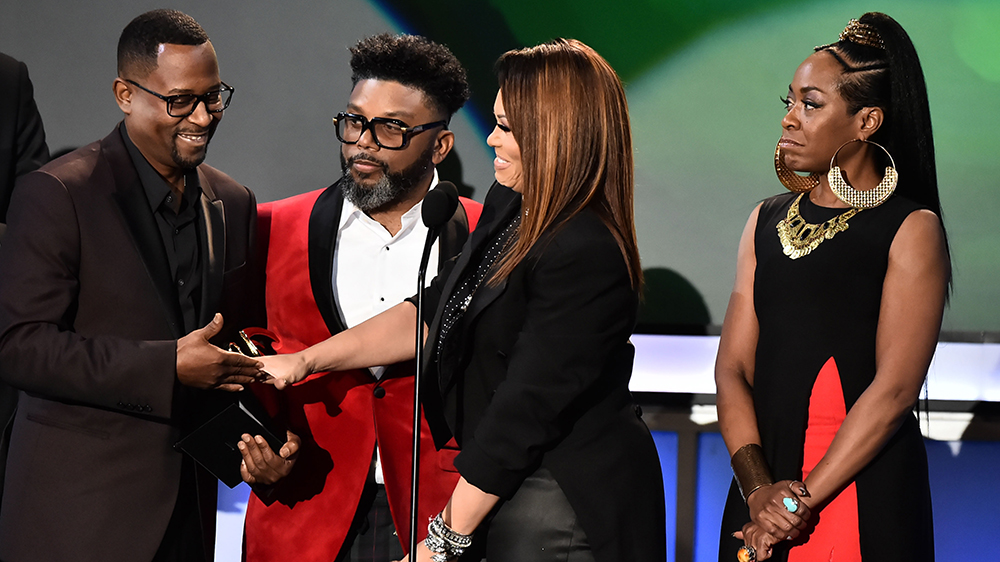 Martin Lawrence, Tichina Arnold, Tisha Campbell-Martin and Carl PayneABFF Honors, Show, Los Angeles, USA - 25 Feb 2018American Black Film Festival Honors
