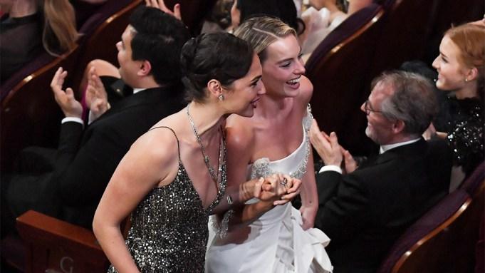 Gal Gadot Margot Robbie Oscars Suprise