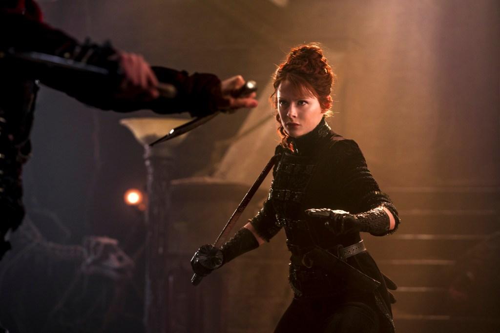 Emily Beecham as The Widow - Into the Badlands _ Season 3, Episode 4 - Photo Credit: Aidan Monaghan/AMC
