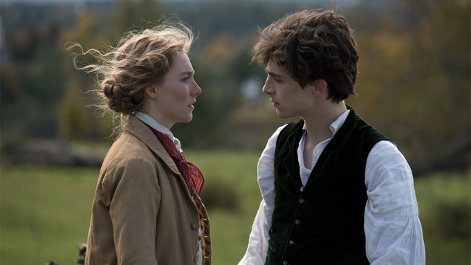 Saoirse Ronan and Timothée Chalamet in