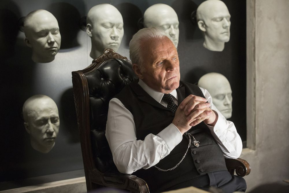 No Merchandising. Editorial Use Only. No Book Cover Usage Mandatory Credit: Photo by Bad Robot/Kobal/REX/Shutterstock (7749141ba) Sir Anthony Hopkins 'Westworld' TV Series Season 1 - 2016