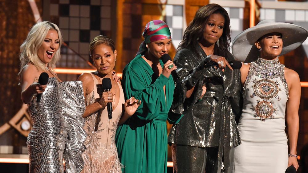 Lady Gaga Jada Pinkett Smith Alicia Keys Michelle Obama Jennifer Lopez