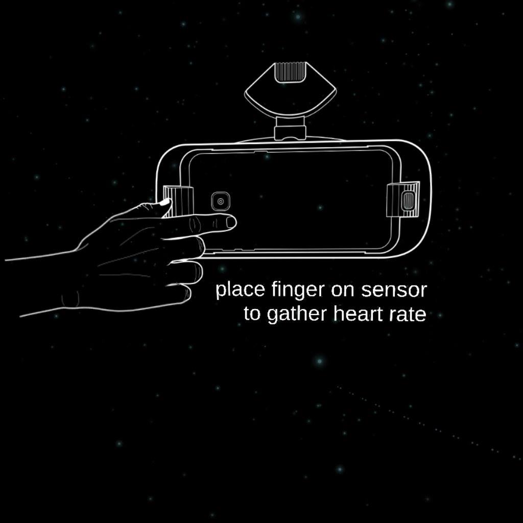 Gear VR heart rate sensor