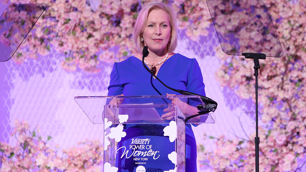 Kirsten Gillibrand Says 'Time's Up' for Harassment in U.S. Senate
