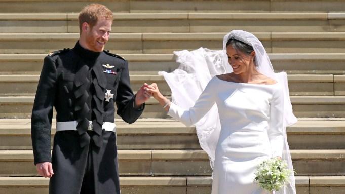 Prince Harry and Meghan MarkleThe wedding