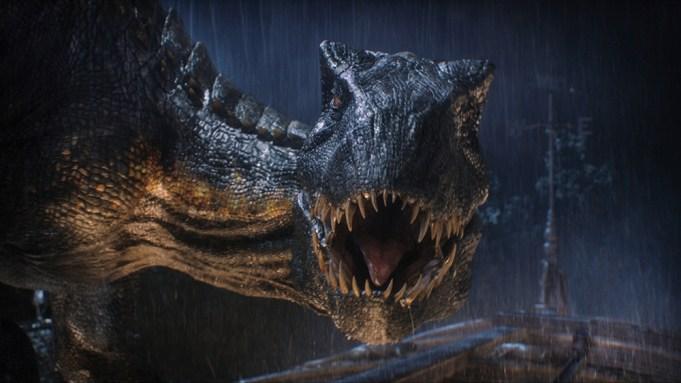 The Indoraptor prepares to strike in