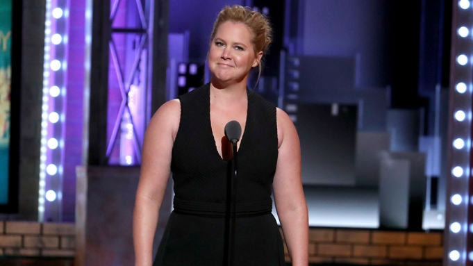 Amy Schumer introduces a performance by