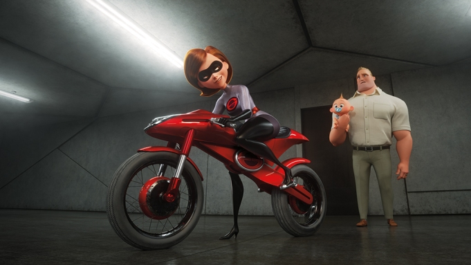 """TAKING THE WHEEL -- In """"Incredibles"""