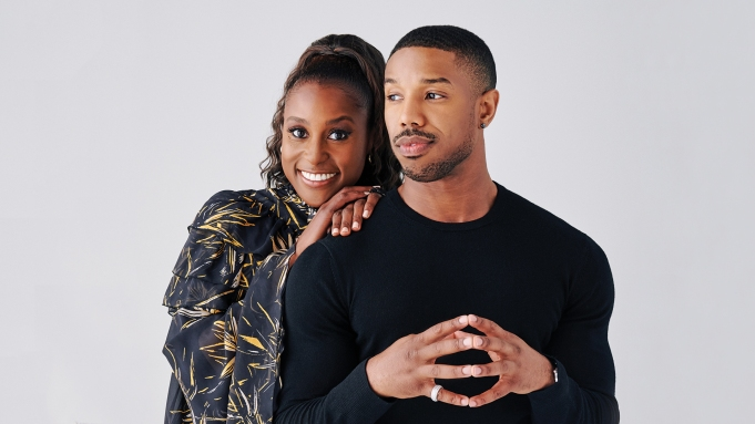 Issa Rae and Michael B. Jordan