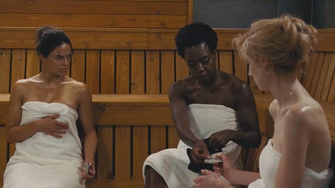 L-R: Michelle Rodriguez, Viola Davis, and