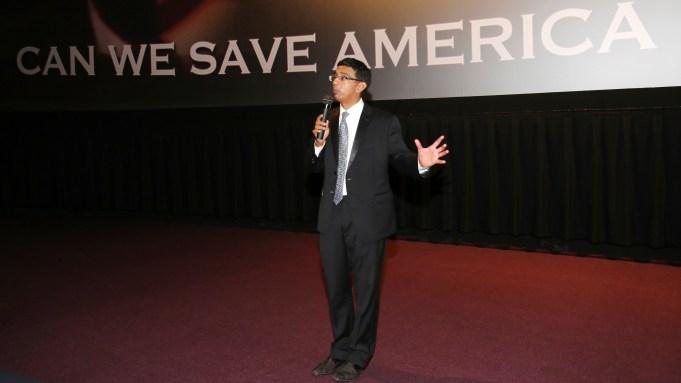 Writer/executive producer/co-director Dinesh D'Souza seen at