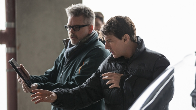 Left to right: Director Christopher McQuarrie