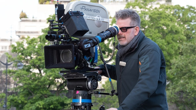 Director Christopher McQuarrie on the set