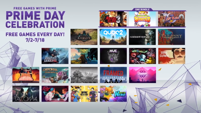 Twitch Prime Members Get Free Games
