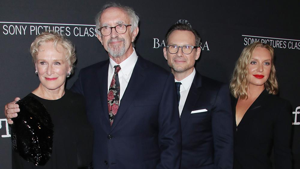 Glenn Close, Jonathan Pryce, Christian Slater and Annie Starke 'The Wife' film premiere, Los Angeles, USA - 23 Jul 2018