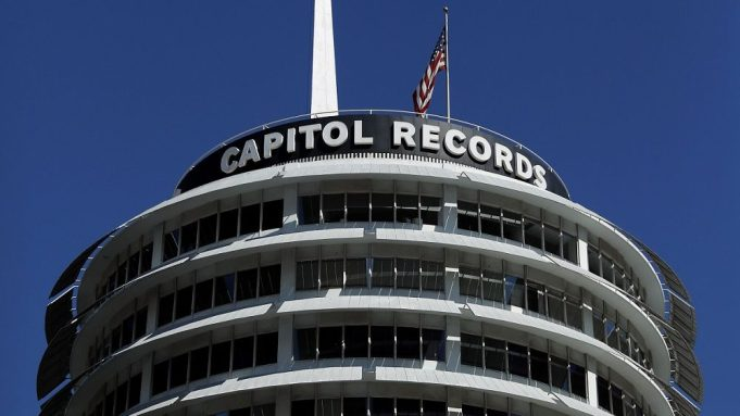 The Capitol Records Building pictured during