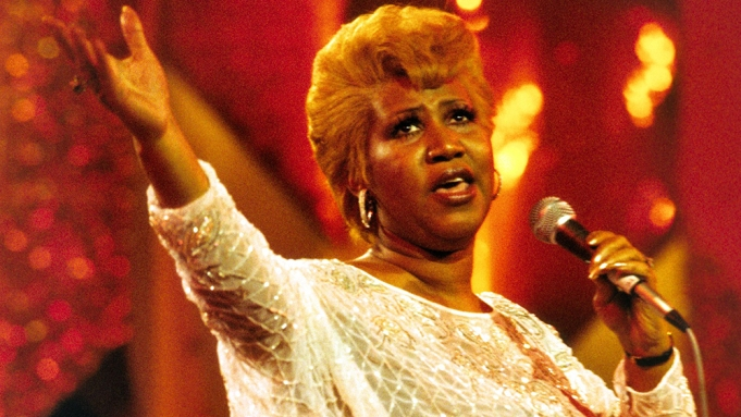 Aretha Franklin performing in Cannes, France