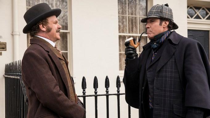 Watson (John C. Reilly) and Sherlock