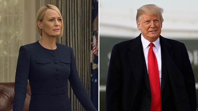 Claire Underwood and Donald Trump
