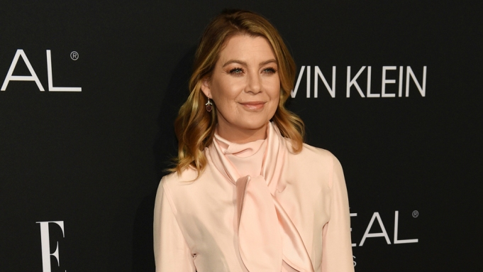Ellen Pompeo poses at the 25th
