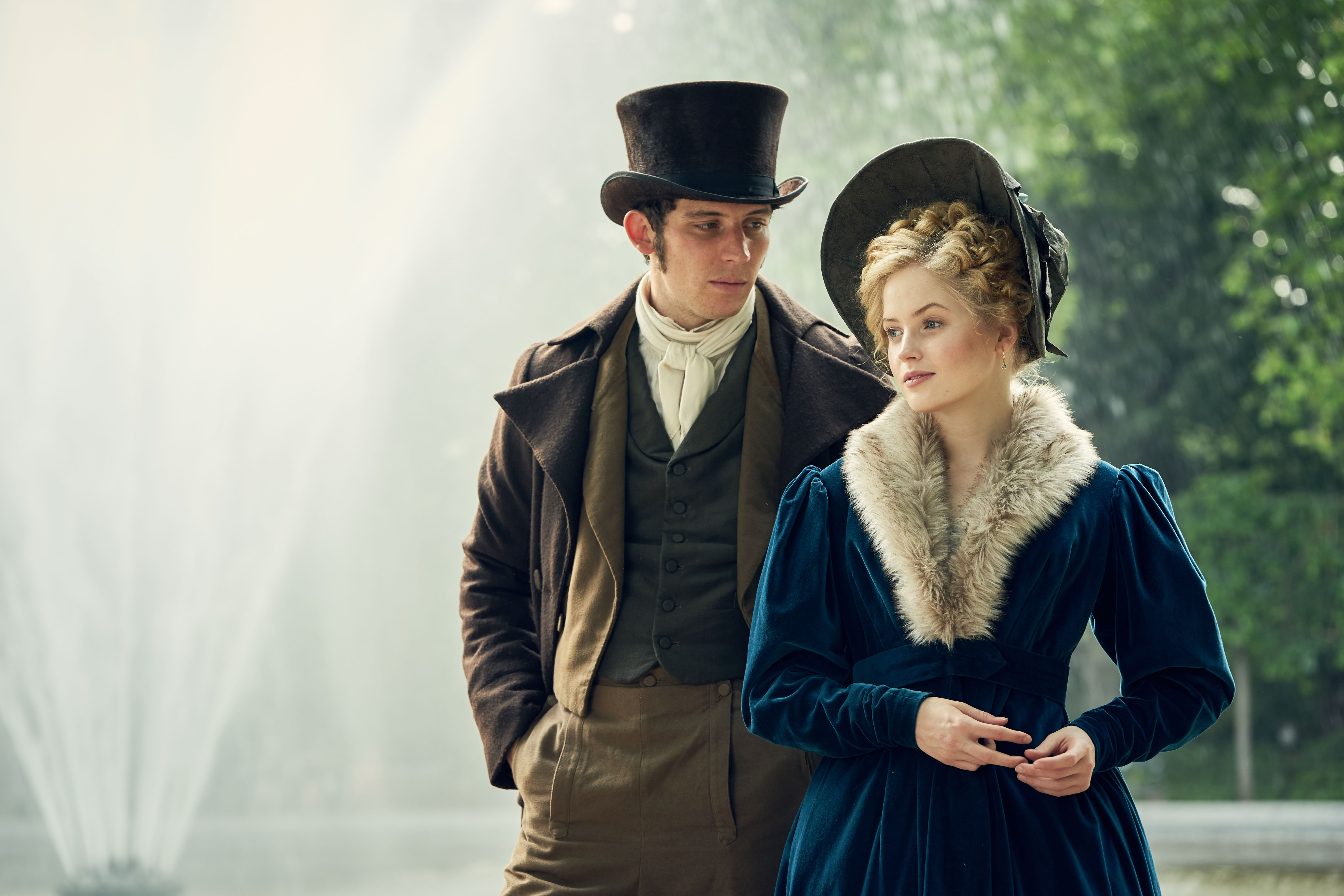 Josh O'Connor and Ellie Bamber Les Miserables