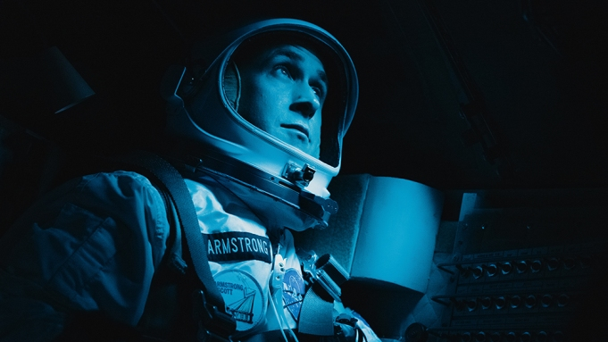 RYAN GOSLING as Neil Armstrong in