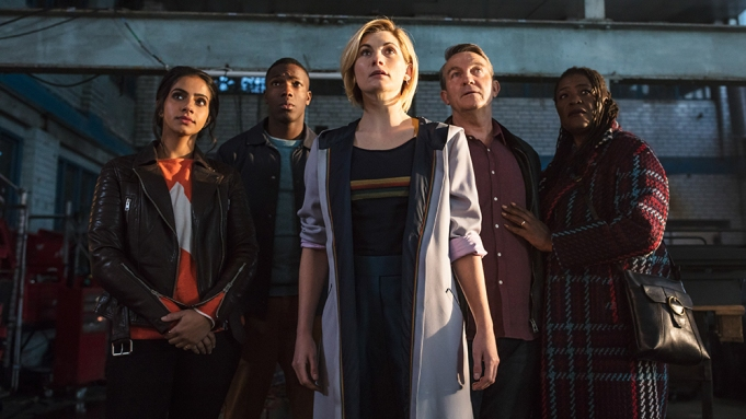 Picture shows: Yasmin Khan (MANDIP GILL), Ryan Sinclair (TOSIN COLE), The Doctor (JODIE WHITTAKER), Graham O'Brien (BRADLEY WALSH), Grace (SHARON D CLARKE)
