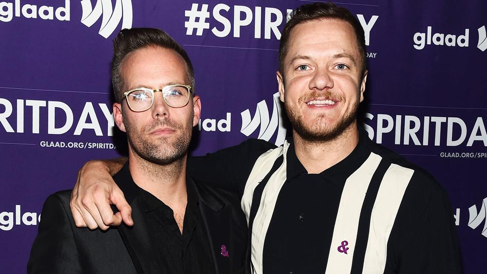 Justin Tranter and Dan Reynolds GLAAD Spirit Day event, Los Angeles, USA - 17 Oct 2018