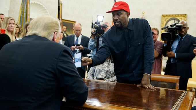 Donald Trump, Kanye West. Rapper Kanye