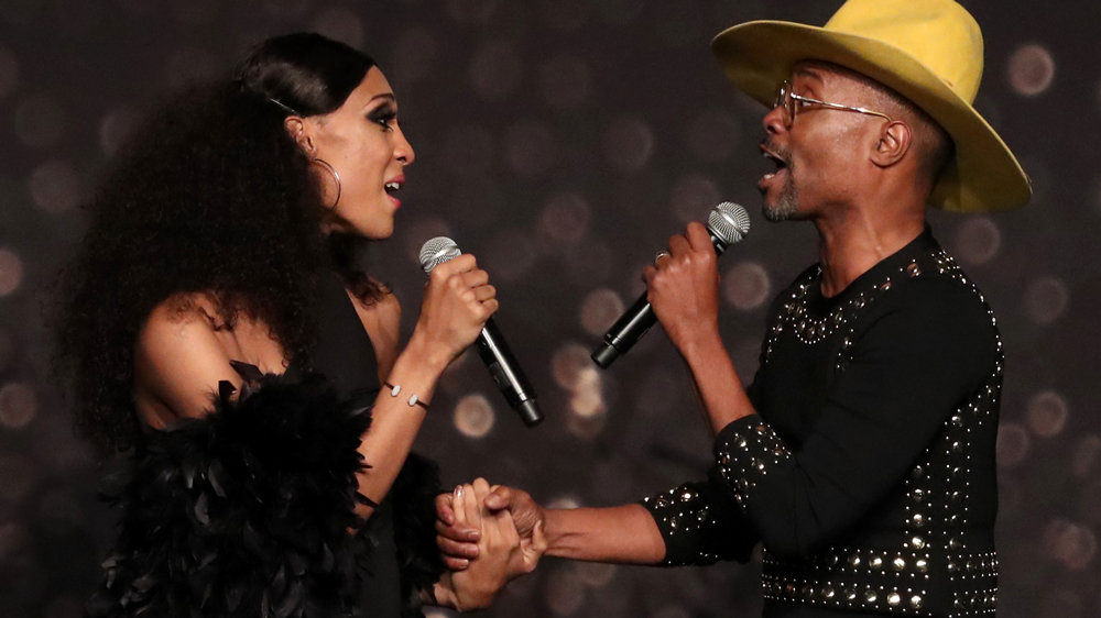 Mj Rodriguez and Billy Porter GLSEN Respect Awards, Show, Los Angeles, USA - 19 Oct 2018