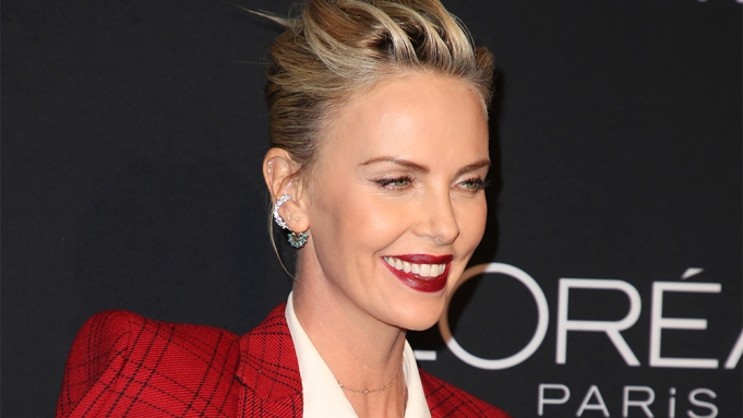 Charlize TheronElle Women in Hollywood, Arrivals,